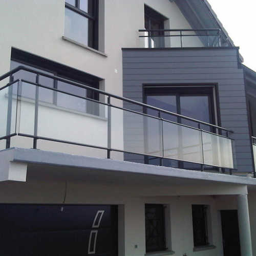 Garde corps aluminium pour villa alu profil s ronds for Garde corps exterieur verre