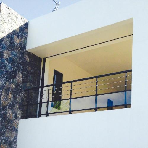 Garde Corps Aluminium Pour Villa Alu Profiles Ronds Panneaux